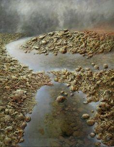 Tøft bilde med uthevet skruktur og 3d-effekt!   Mål: Bredde 100 cm Høyde 130 cm Nova, Country Roads, River, 3d, Rivers