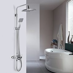 Contemporary Chrome Finish A Grade ABS  Wall-mount Shower Faucet http://ltpi.co.nf/?item=567893
