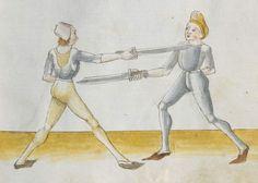 Lecküchner, Hans: Kunst des Messerfechtens Nordbayern, 1482 Cgm 582 Folio 31