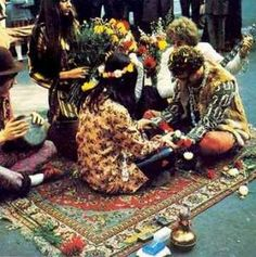A hippie wedding.