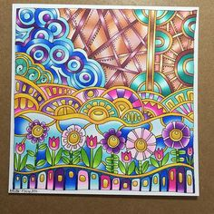 @angela_porter_illustrator their beautiful design for a colouring book page, coloured with the Chameleon Pens