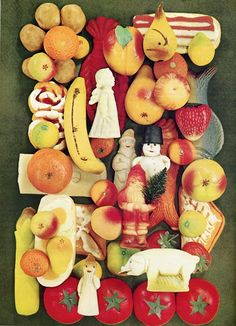 """German Christmas Marzipan from """"The Cooking of Germany"""", Time Life Books 1969 Christmas In Germany, Christmas In Europe, German Christmas, Merry Little Christmas, Christmas Is Coming, Christmas Goodies, Christmas Candy, Christmas And New Year, All Things Christmas"""