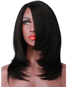 COLODO Yaki Straight Short Style Bob Synthetic L Lace Fro…