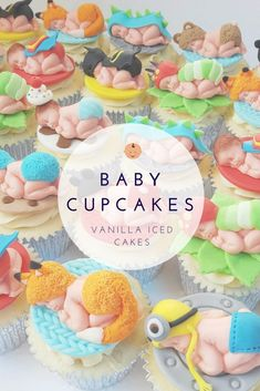 Baby Cupcakes steal the spotlight at my Baby Shower - Lets Talk Mommy Baby Cupcake, Baby Shower Cupcakes, Birthday Cupcakes, Shower Cakes, Winter Cupcakes, Love Cupcakes, Christmas Cupcakes, Diy Baby Shower Decorations, Baby Shower Themes