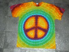 tie dye peace t shirt