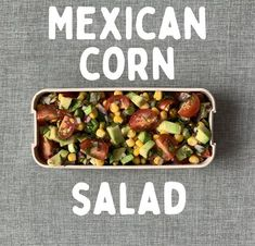 Healthy recipe for weight loss. Tasty recipe for you and your family. Meal prep ideas for lunch box. Click the link and get more useful information. Corn Salad Recipes, Avocado Recipes, Healthy Salad Recipes, Avocado Ideas, Drink Recipes, Healthy Lunches For Kids, Lunch Kids, Healthy Snacks, Vegan Meal Prep