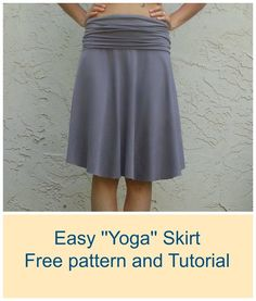 Yoga Skirt - FREE SEWING PATTERNS AND TUTORIALS | On the Cutting Floor: the waist band is my favorite style!  Great project and design.
