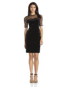 Tiana B Women's Solid Velvet Dress with Matte Mesh Jersey Combo, Black, 4 Tiana B,http://www.amazon.com/dp/B00EVI2TZG/ref=cm_sw_r_pi_dp_Tsn-sb1C03M8114V