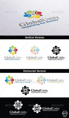 Global Unity Logo Design  #GraphicRiver         This is a nice customizable, simple and elegant logo, suitable for community and people related industries. It is easy to change the colors and the text. The file contains color versions, black versions and white versions.   Main Features:   •  1 Logo Design   •  AI, EPS, PSD and CDR File Formats   •  Easy to change colors and adjustable for any size   •  Help File   Fonts used:   Aparajita –  .ufonts /fonts/aparajita.html   Arial –…