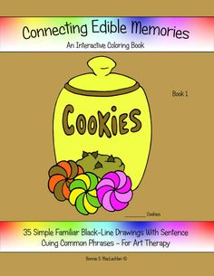 Connecting Edible Memories Book 1 Adult By ArtZillustrations Memory BooksAdult ColoringColoring BooksDementiaAutism