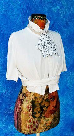 Lovely Vintage Unisex Style Cotton Jabot Collar