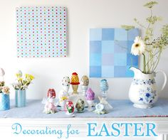 Easter Decorating Ideas - Table Decor, Flower Arrangements, Wreaths and Decorations  http://www.dotcomwomen.com/home/easter-decorating-ideas-table-decor-flower-arrangements-wreaths-and-decorations/7513/