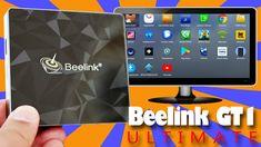 Android Box TV sur un téléviseur. Box Beelink GT1 Ultimate en 4K 60 ims.