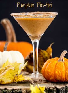 PUMPKIN PIE-TINI - how to have your pie and drink it too!