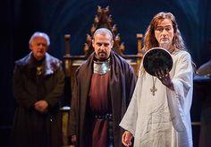 Oliver Ford Davies (Duke of York), Nigel Lindsay (Bolingbroke), David Tennant (Richard II)© Kwame Lestrade