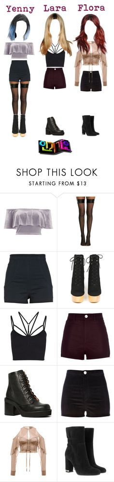 """《Comeback Special》 SNation - Tell Me @인기가요 Inkigayo"" by snation ❤ liked on Polyvore featuring River Island, Hot Topic, Opening Ceremony, Sweaty Betty, Jeffrey Campbell, Puma and MICHAEL Michael Kors"
