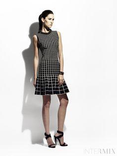 Ohne Titel Gradient Grid Knit A-Line Dress