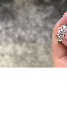 3 Stone Trilogy Round Diamond Engagement Ring Round Diamond Engagement Rings, Eternity Ring Diamond, Engagement Ring Styles, Diamond Solitaire Rings, Designer Engagement Rings, Wedding Ring Bands, Wedding Jewelry, Fashion Rings, Stone