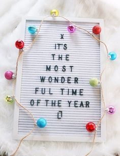 Its the Most Wonderful Time of the Year! – (affiliate link) – Christmas Letterboard – Christmas flat lay – New Year Celebrations – Christmas Christmas Quotes, Christmas Humor, All Things Christmas, Christmas Holidays, Christmas Decorations, Christmas Ideas, Funny Christmas Sayings, Winter Sayings, Felt Letter Board