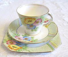 Vintage Standard China Art Deco Tea Trio Ilam by TheWhistlingMan