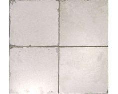 Czteroelementowa biała płytka matowa