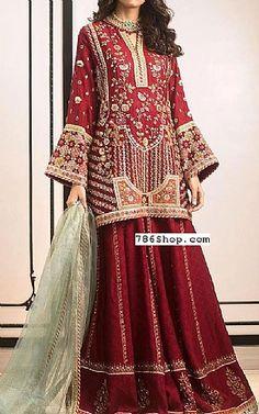 Maroon Crinkle Chiffon Suit   Buy Pakistani Fashion Dresses and Clothing Online in USA, UK Pakistani Wedding Dresses Online, Pakistani Dresses Online Shopping, Online Dress Shopping, Designer Party Dresses, Indian Designer Outfits, Pakistani Designers, Bridal Outfits, Ladies Dress Design, Dress Making