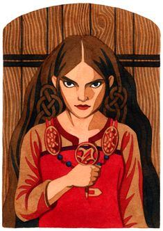 Syn, a Norse Goddess Who is the doorkeeper to Frigga's hall. Artwork and article by Thalia Took. Norse Goddess, Goddess Art, Norse Mythology, Norse Religion, Norse Words, Pagan Art, Old Norse, American Gods, Gods And Goddesses