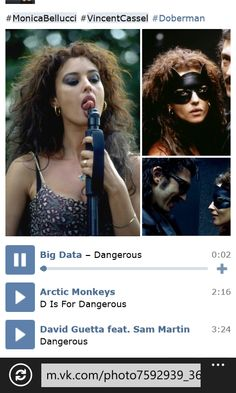Big Data Dangerous, Monkey 2, Vincent Cassel, David Guetta, Monica Bellucci, Arctic Monkeys, Doberman, Pretty, Hair