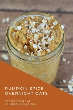 How to make pumpkin pie overnight oats healthy recipe. These pumpkin overnight oats easy are great for meal prep. Make pumpkin overnight oatmeal and it's good for up to 5 days in the fridge. Pumpkin spice overnight oat is a creamy and delicious recipe, so it can also be a dessert or snack. Pumpkin pie overnight oats with chia seeds for creamy oats. Pumpkin Yogurt, Pumpkin Spice, Pumpkin Overnight Oats, Pumpkin Oatmeal, Overnight Oatmeal, Pumpkin Smoothie, Gourmet Cooking, Healthy Cooking, Healthy Yogurt