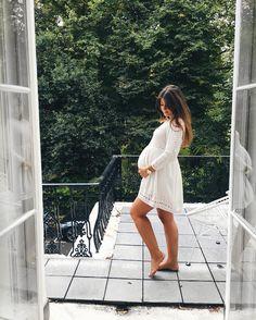 White pregnancy dress