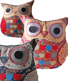 Hamish, Roxie and Priscilla Owl Cushions available in Bonkers Stores now! http://www.bonkers.uk.com/for-the-home/cushions.html