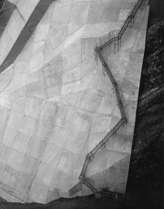 I think that's a walkway. A terrifying walkway. (Toshio Shibata - Coolidge Dam, Gila County, AZ, 1997)