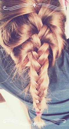 Messy fishtail braid:)