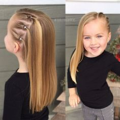 ) is this baby girl + toddler hairstyle! hairstyles toddlerhairstyles babygirlhairstyles kidshair… How cute (and EASY!) is this baby girl + toddler hairstyle! hairstyles toddlerhairstyles babygirlhairstyles kidshair… Kids h - b Easy Toddler Hairstyles, Easy Little Girl Hairstyles, Girls Hairdos, Baby Girl Hairstyles, Cute Kids Hairstyles, Hairstyles For Toddlers, Summer Hairstyles, Hairstyles 2016, Trending Hairstyles