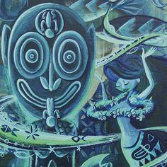 Tiki mermaid south sea art Wall decor Polynesian pop by MookieSato Tiki Art, Tiki Tiki, Tiki Lounge, Tiki Room, Sea Art, Mid Century Modern Art, Printing Services, Vintage Posters, Wall Art Decor
