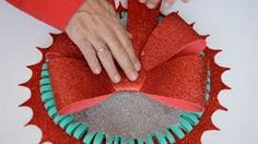 Resultado de imagen para paso a paso flor de navidad en goma eva