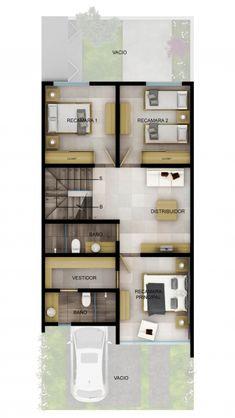 Duplex House Plans, House Layout Plans, Modern House Plans, Small House Plans, House Layouts, Modern House Design, House Floor Plans, Home Design Plans, Plan Design