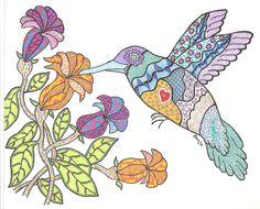 Hummingbird surprise for my sister Tina.
