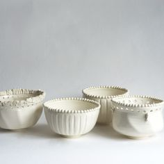 """No. 15 Bowls by Frances Palmer Pottery (each sold separately)  5.5""""w x 4""""h"""