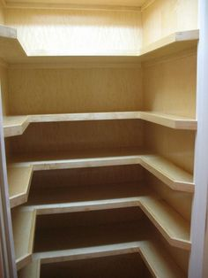 U-shaped shelves for pantry