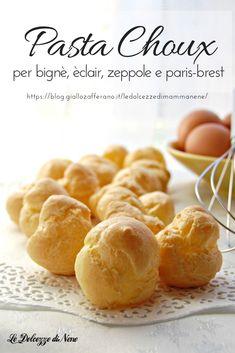Italian Pastries, Bread And Pastries, Sweet Recipes, Snack Recipes, Dessert Recipes, Bigne Recipe, Mini Desserts, Just Desserts, British Baking Show Recipes
