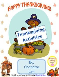 Thanksgiving Activities by Colourful Teaching For You  #colourfulteach  #learning #learningthroughplay #learningisfun #homeschool #Homeschooling #educator #Teachers #Thanksgiving #happythanksgiving #ThankYou #Grateful #gratitude #love #lovelive