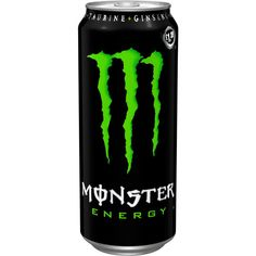 Monster Energy Drink ($3.14) ❤ liked on Polyvore featuring food, drinks, food and drink, monster and fillers