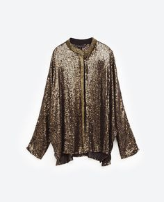 SEQUINNED AND EMBROIDERED CARDIGAN from Zara Blazers, Zara, Embroidered  Jacket, Sequins, Jackets 81b2858931