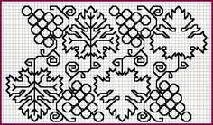 Wonderful  Elizabethan Blackwork Patterns  (I can't wait to try my hand at some of these!)