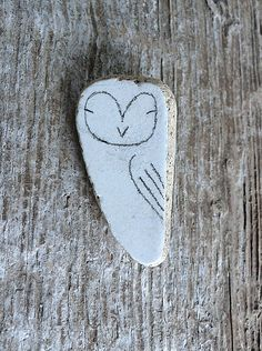 LARGE Beach Pottery Owl  Totem Animal Medicine Spirit