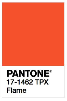 Pantone Flame✖️More Pins Like This One At FOSTERGINGER @ Pinterest✖️