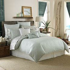Wonderful colors - but Gil might not want stripes Tommy Bahama® Surfside Stripe Duvet Cover, 100% Cotton - Bed Bath & Beyond