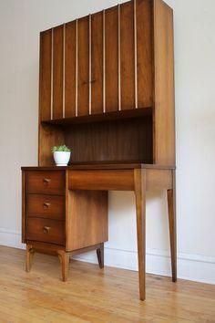 Mid Century Modern Johnson Carper Desk Unit
