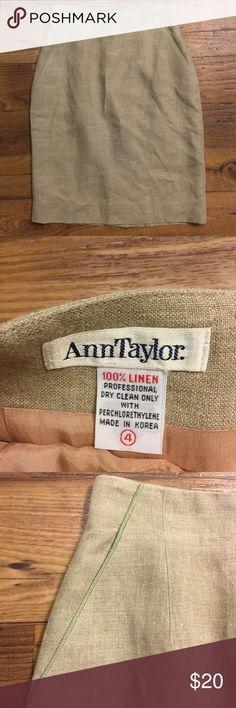 Ann Taylor linen skirt size 4 Vintage Ann Taylor. 100% linen. Lined. (A) Ann Taylor Skirts